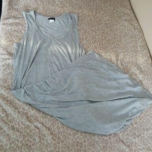 (XL) Venus Gray Ruched Tank Dress